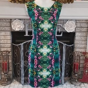Cynthia Rowley floral print scuba dress, size 8